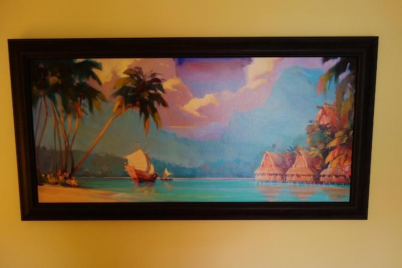 Photo Tour Of A Studio At Disney's Polynesian Villas And Bungalows Inside Polynesian Wall Art (Photo 6 of 20)
