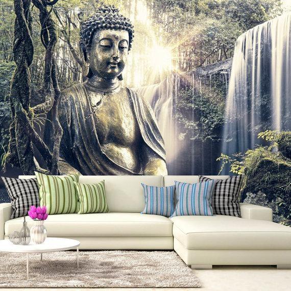 Photo Wallpaper Wall Murals Non Woven 3D Modern Art Buddha With 3D Buddha Wall Art (Image 15 of 20)
