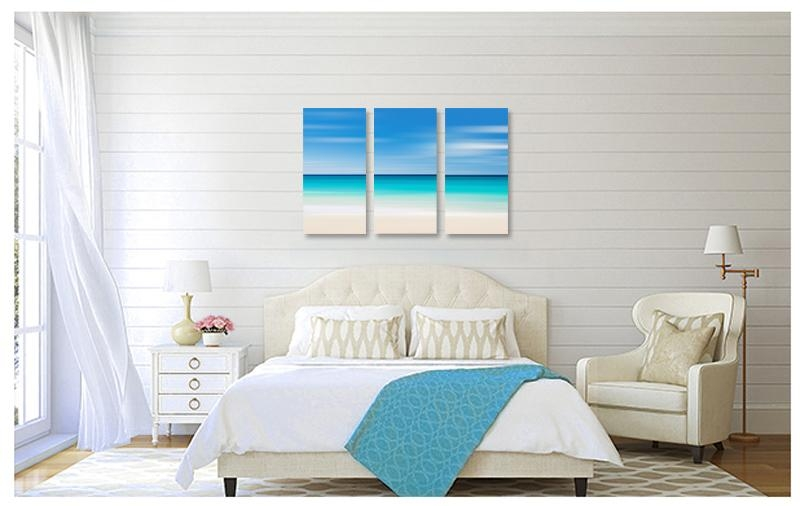 Photography For Sale | Canvas Beach Decor Triptych Large Wall Art With Beach Wall Art For Bedroom (Image 19 of 20)