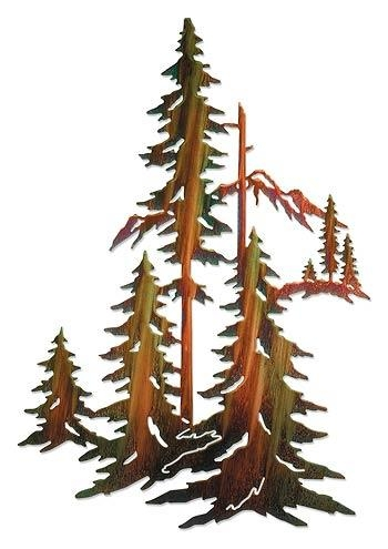 Pine Tree; Metal Wall Art | Wild Wings In Pine Tree Wall Art (Image 17 of 20)