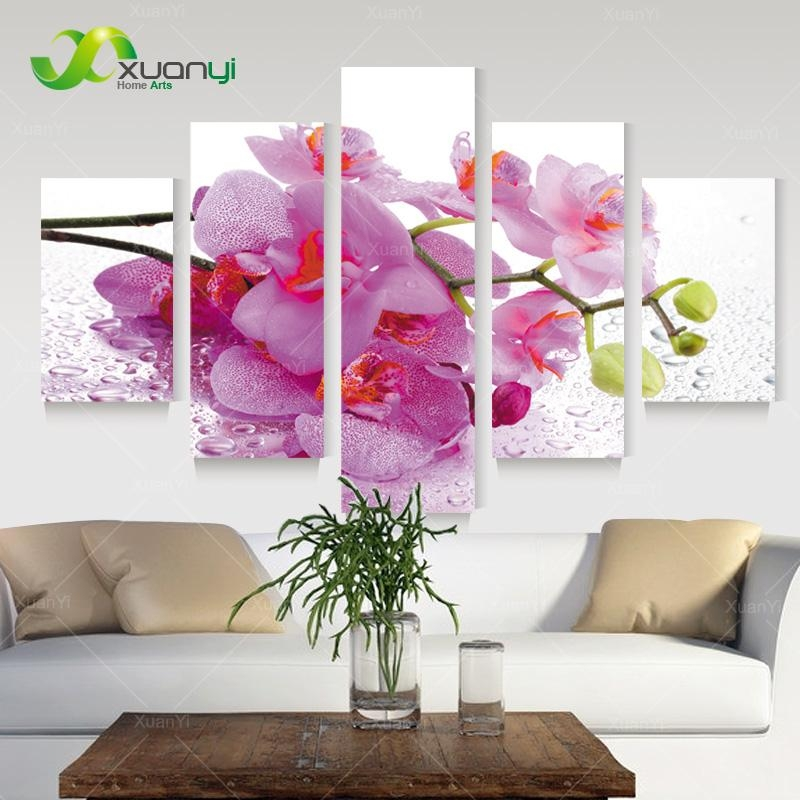 Pink Flower Art Promotion Shop For Promotional Pink Flower Art On For Pink Flower Wall Art (View 17 of 20)