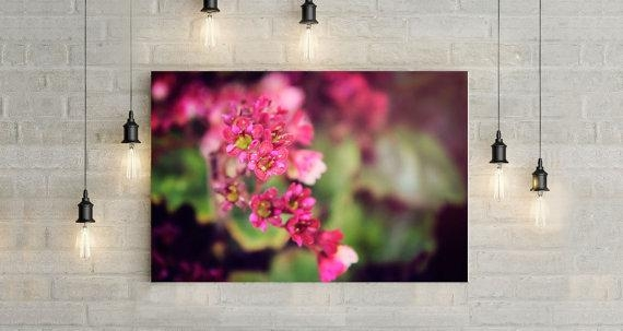 Pink Flower Canvas Art Wall Art Canvas Canvas Print Nature Regarding Pink Flower Wall Art (View 15 of 20)