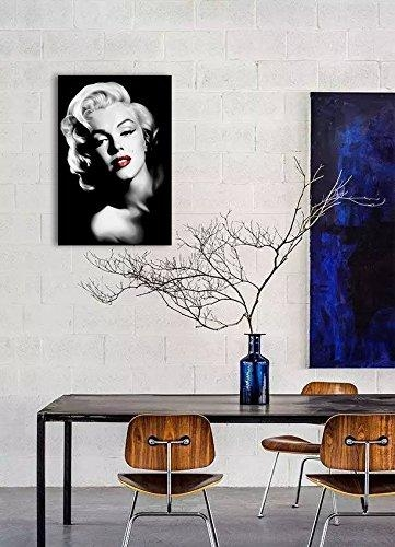 Piy Red Lips Marilyn Monroe Wall Art With Frame, Canvas Prints With Marilyn Monroe Wall Art (Image 15 of 20)