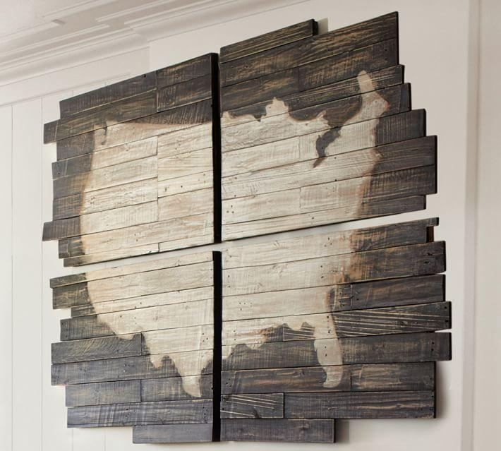 Planked Usa Wall Art Panels | Pottery Barn Inside Wood Panel Wall Art (Image 9 of 20)