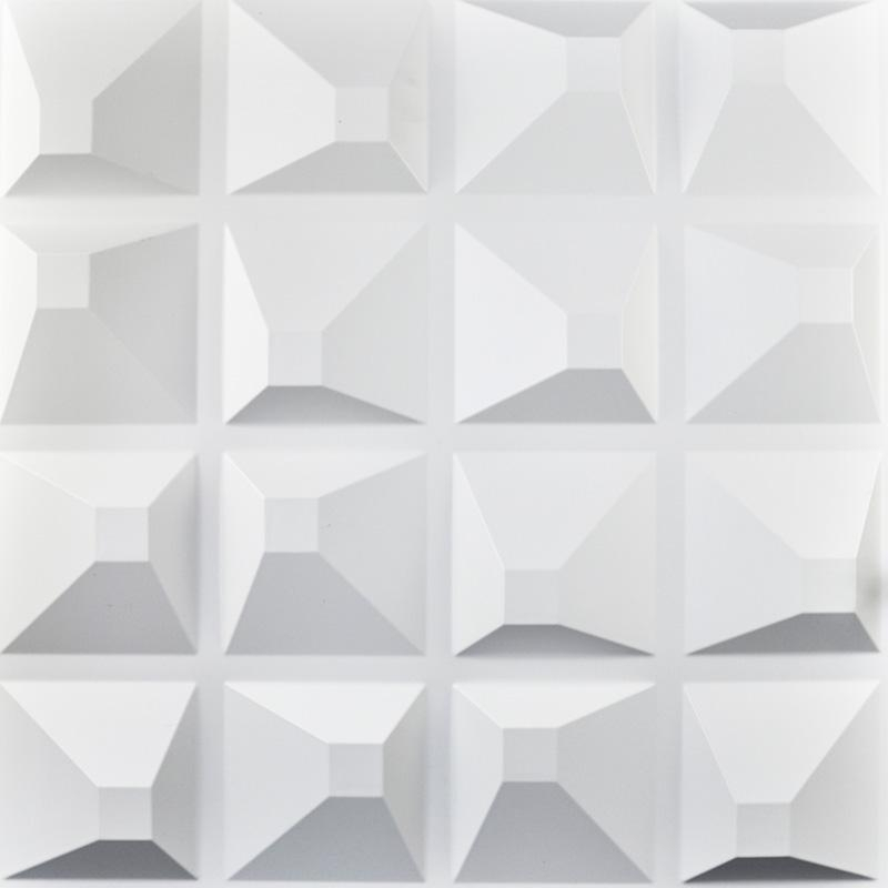 Plastic 3D Wall Art Textured Wall Panels 12 Coverings Pertaining To White 3D Wall Art (Image 15 of 20)