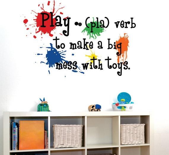 Playroom Wall Decal Paint Splotch Playroom Vinyl Wall Regarding Playroom Wall Art (Image 16 of 20)