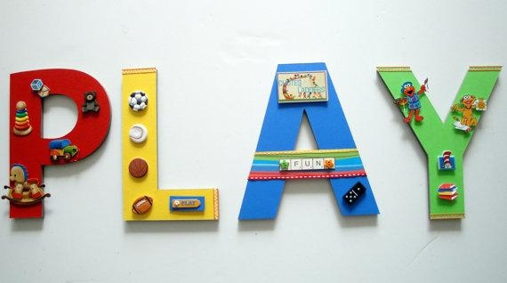 Playroom Wall Letters Playroom Wall Art Toys And Games Wall In Playroom Wall Art (Image 17 of 20)