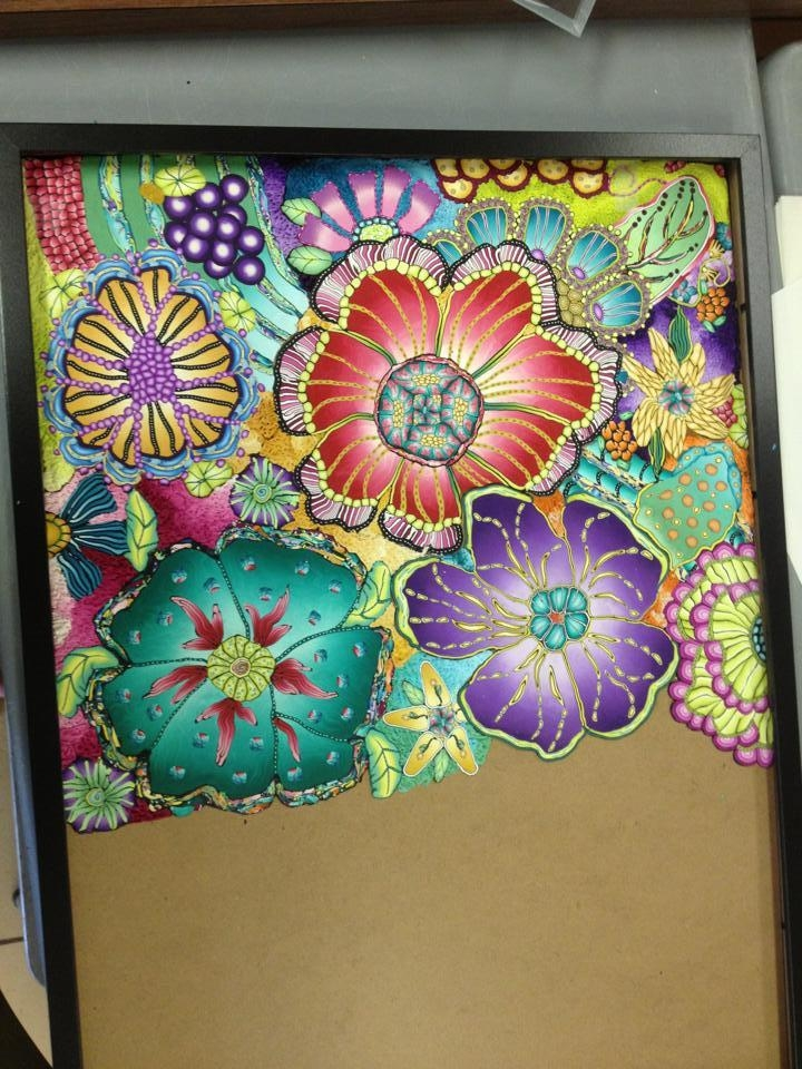 Polymer Clay Wall Art – Flowers « Polymer Clay Etc (Image 17 of 20)