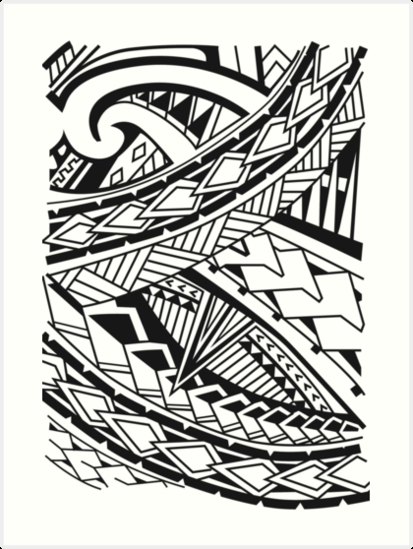 "Polynesian "" Art Printskowhaililly | Redbubble Pertaining To Polynesian Wall Art (Photo 5 of 20)"