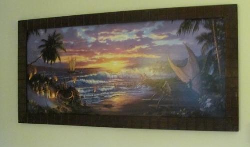 Polynesian Resort Room Wall Art Luau At Night Throughout Polynesian Wall Art (Image 17 of 20)