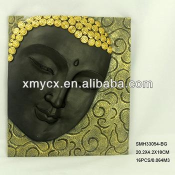 Polyresin Wall Decor 3D Buddha Face Wall Art – Buy 3D Buddha Wall Inside 3D Buddha Wall Art (Image 16 of 20)
