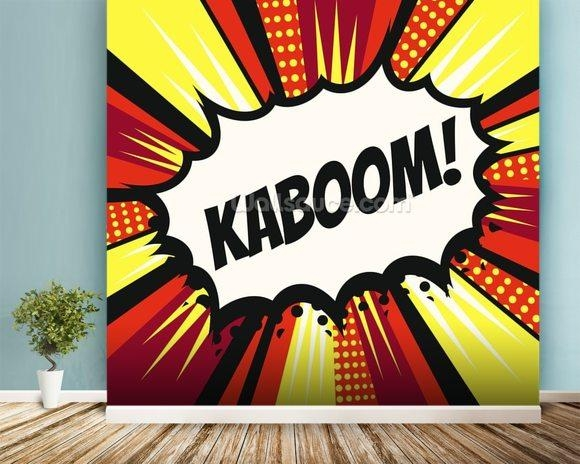 Pop Art – Kaboom Wallpaper Wall Mural | Wallsauce Australia Intended For Pop Art Wallpaper For Walls (View 5 of 20)