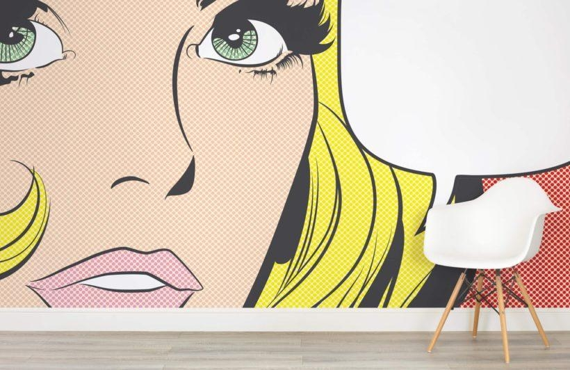 Pop Art Woman Wallpaper Wall Mural | Muralswallpaper.co (View 6 of 20)