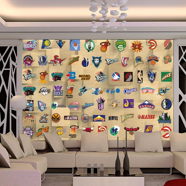 Popular Basketball Wall Mural Buy Cheap Basketball Wall Mural Lots With Regard To Nba Wall Murals (Image 19 of 20)