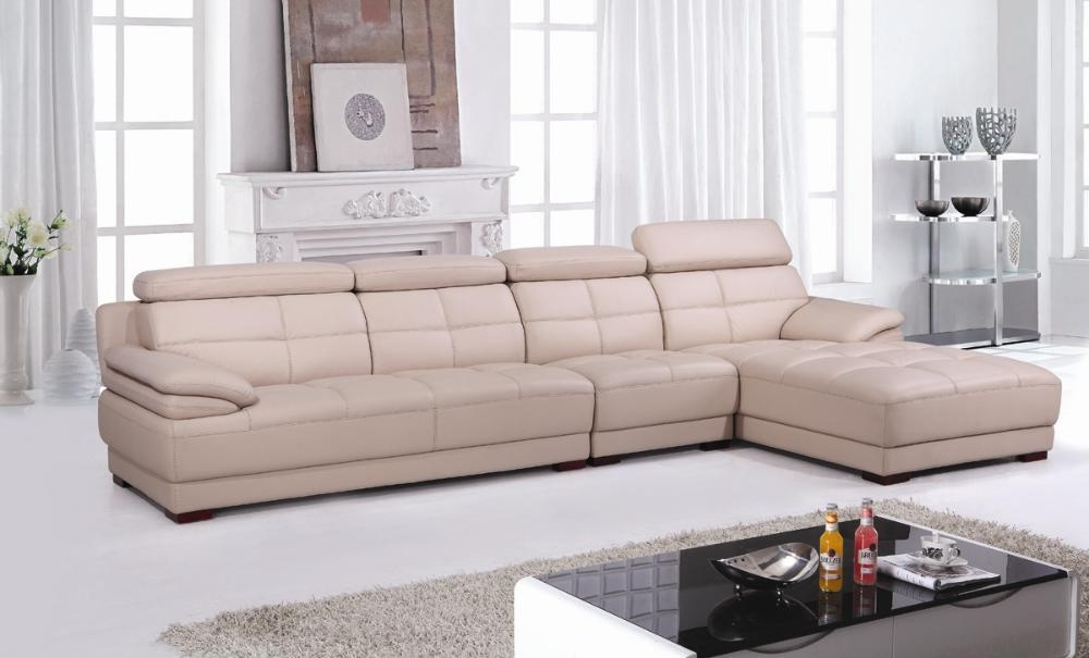 Popular Beige Leather Sectional Buy Cheap Beige Leather Sectional Pertaining To Beige Leather Couches (Image 20 of 20)