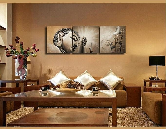 Popular Buddha Print Buy Cheap Buddha Print Lots From China Buddha Throughout Large Buddha Wall Art (View 5 of 20)