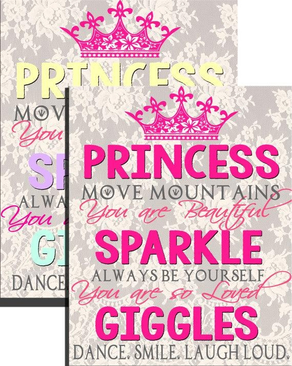 Popular Little Girl Room Wall Art Quotes Princess Wall Art Regarding Little Girl Wall Art (View 13 of 20)