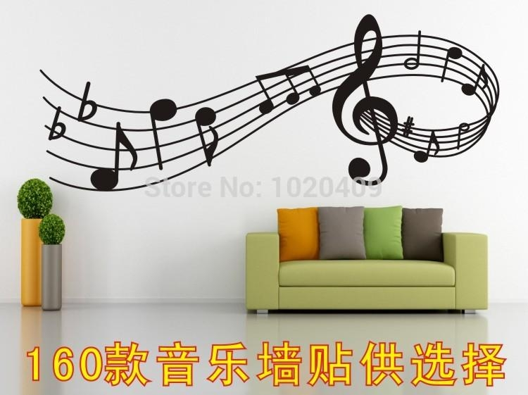 Popular Musical Note Wall Art Buy Cheap Musical Note Wall Art Lots In Musical Instrument Wall Art (View 8 of 20)