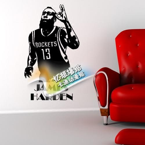 Popular Nba Wall Stickers Buy Cheap Nba Wall Stickers Lots From With Regard To Nba Wall Murals (Image 20 of 20)