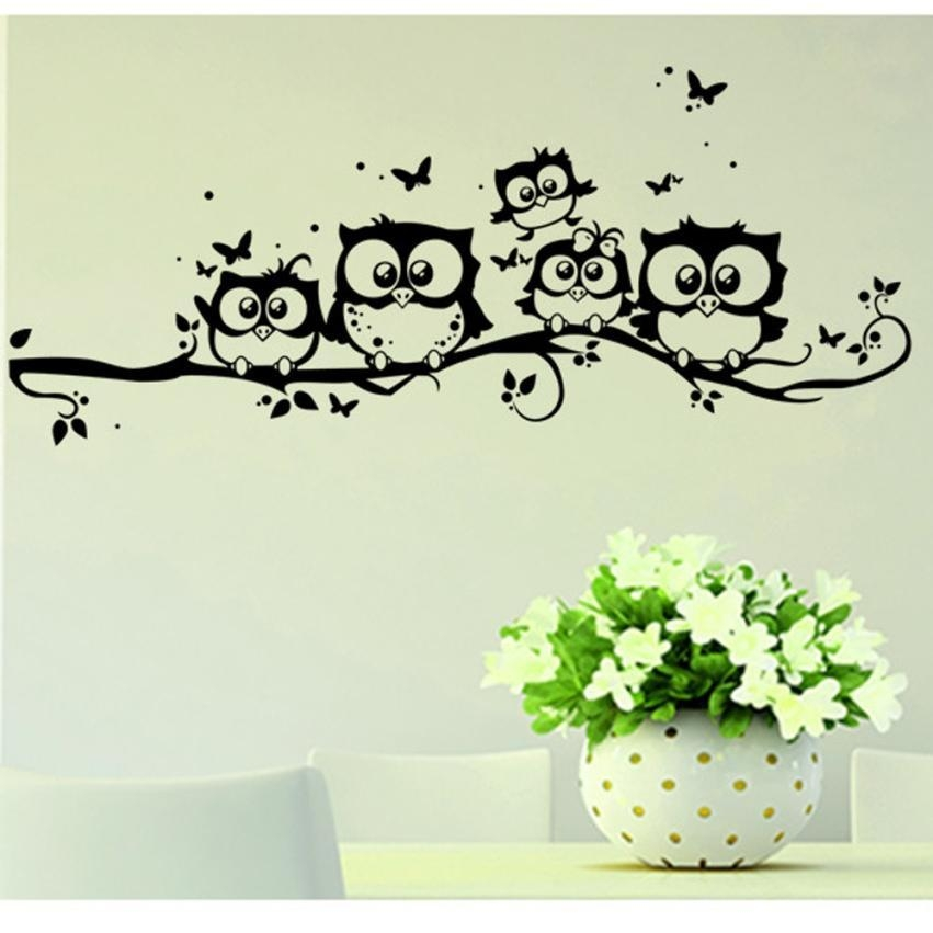 Popular Owl Homes Buy Cheap Owl Homes Lots From China Owl Homes Regarding Owl Wall Art Stickers (Image 19 of 20)