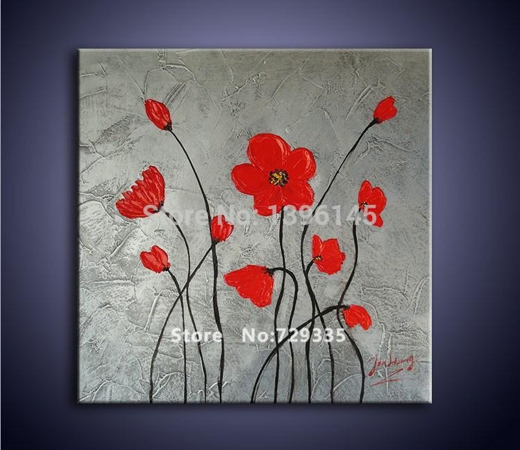 Popular Red Flower Metal Wall Art Buy Cheap Red Flower Metal Wall With Red Flower Metal Wall Art (View 8 of 20)