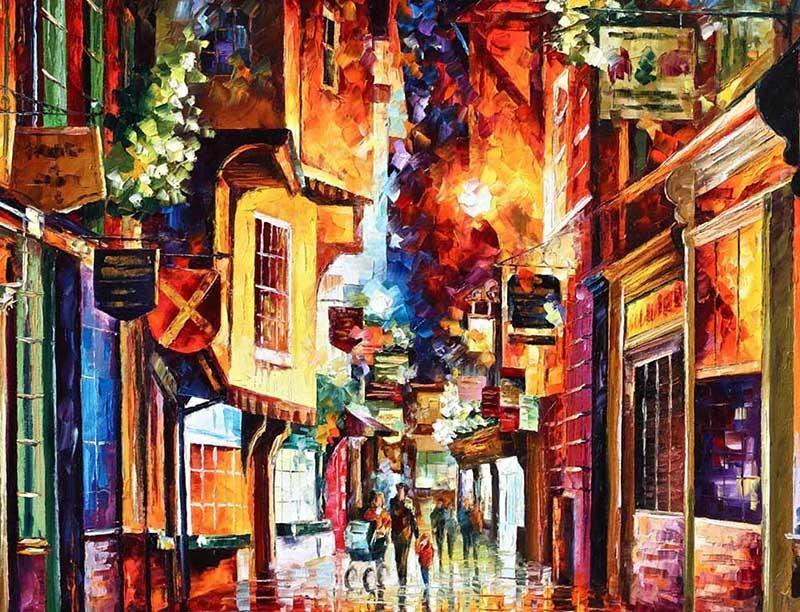 Popular Street Scene Oil Painting Buy Cheap Street Scene Oil Within Street Scene Wall Art (Image 15 of 20)