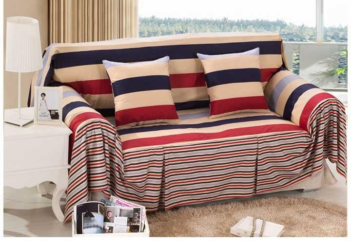 20 photos striped sofa slipcovers sofa ideas for Buy a cheap couch