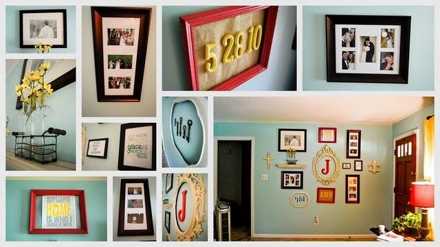 Practical Tattoos: Gallery Wall Art – The Borrowed Abodethe With Homemade Wall Art (Image 16 of 20)