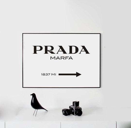 Prada Marfa Wall Art Fashion Print Fashion Logo Fashion For Prada Marfa Wall Art (Image 14 of 20)