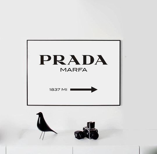 Prada Marfa Wall Art Fashion Print Fashion Logo Fashion For Prada Wall Art (Image 14 of 20)