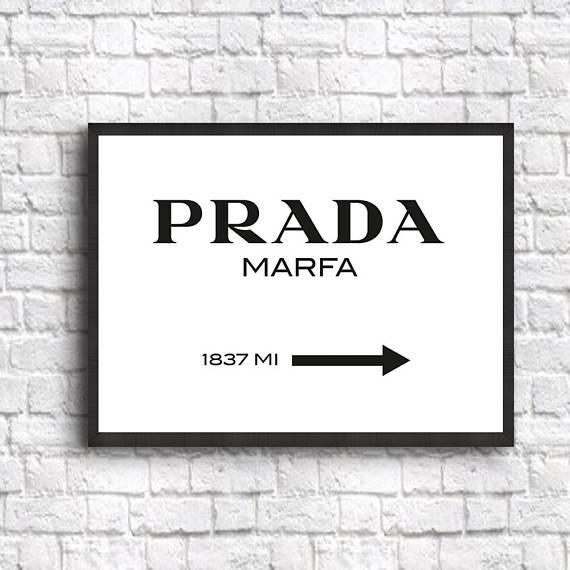 Prada Marfa Wall Art Prada Marfa Poster Prada Poster Prada For Prada Marfa Wall Art (Image 15 of 20)