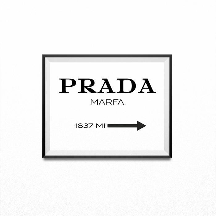 Prada, Prada Marble, Prada Wall Art, Fashion Print, Prada Marfa Pertaining To Prada Wall Art (Image 18 of 20)