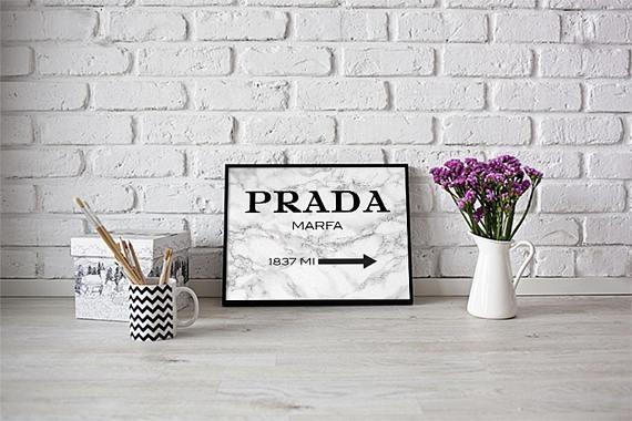 Prada Prada Marble Prada Wall Art Fashion Print Prada Within Prada Wall Art (Image 16 of 20)