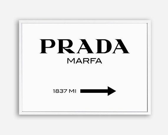 Prada Prada Marfa Prada Print Prada Marfa Print Prada Regarding Prada Wall Art (Image 17 of 20)