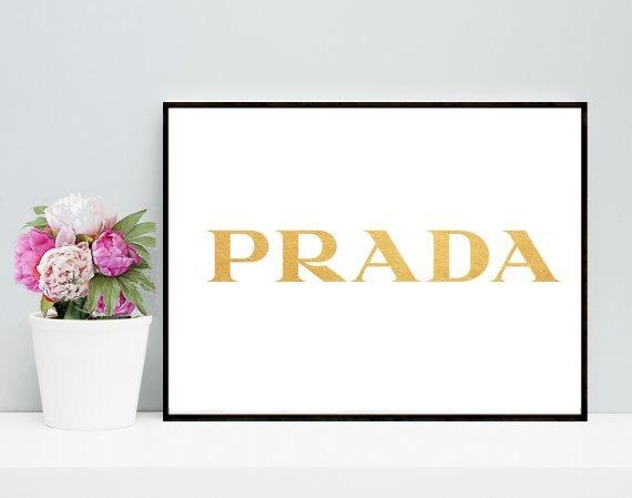 Pradaprintable Wall Art Prada Print Gold Prada Gold Decor For Prada Wall Art (Image 19 of 20)