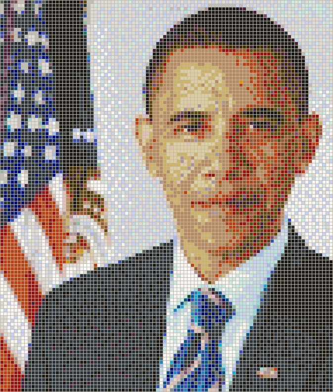 President Barack Obama – Framed Mosaic Wall Art With Regard To Pixel Mosaic Wall Art (Image 15 of 20)