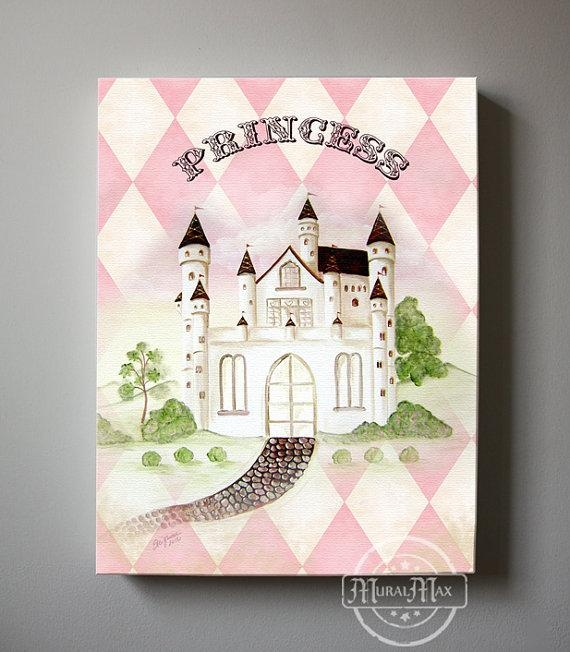 Princess Castle Wall Art Princess Canvas Art Baby Nursery In Princess Canvas Wall Art (Image 15 of 20)