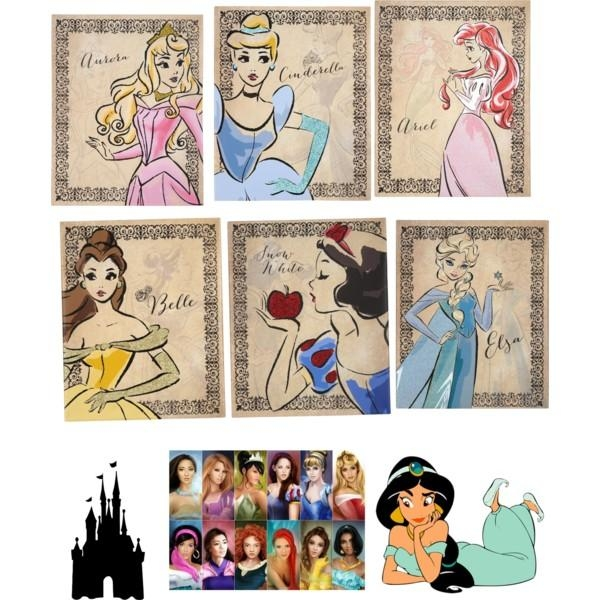 Princess Of Disney – Polyvore Regarding Disney Canvas Wall Art (Image 17 of 20)