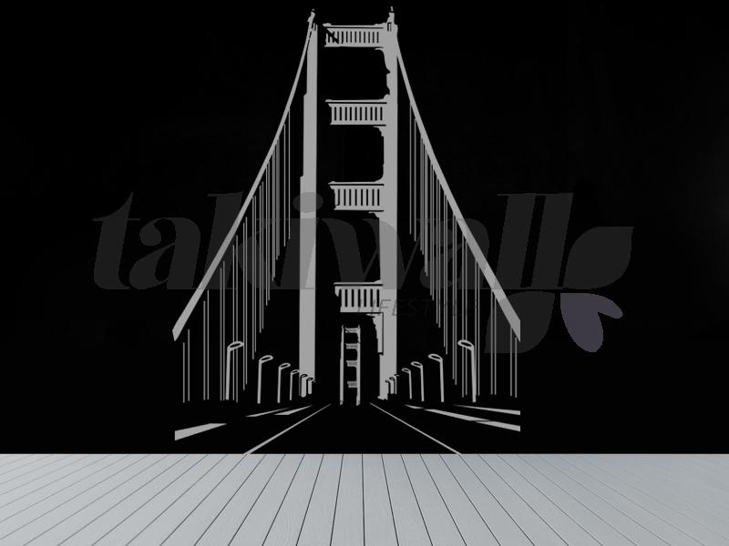 Print Dubai Wall Sticker Brooklyn Bridge Abstract Shop In Dubai With Brooklyn Bridge Wall Decals (Image 16 of 20)