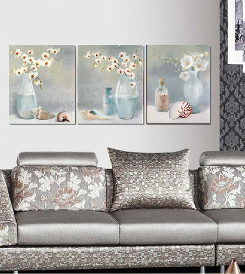 Printed Abstract Canvas Art With Stretched Frame – Set Of 3 – Wall With Canvas Wall Art Sets Of (View 20 of 20)