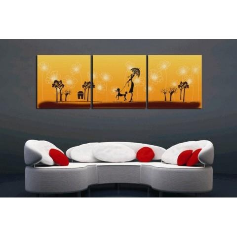 Printed Canvas Art With Stretched Frame – Set Of 3 – Wall Art Ideas Intended For Canvas Wall Art Sets Of (View 9 of 20)