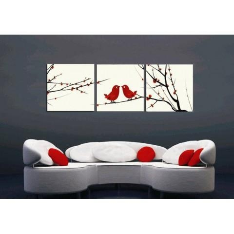 Printed Flower Canvas Art With Stretched Frame – Set Of 3 – Wall With Regard To 3 Set Canvas Wall Art (Image 15 of 20)