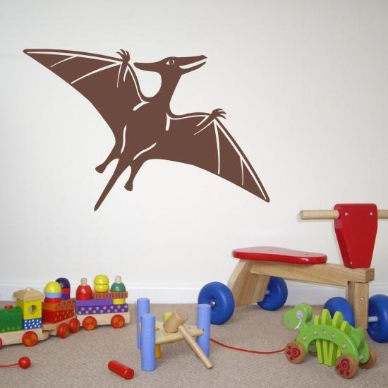 Pterodactyl Dinosaur Kids Wall Art Sticker H525K With Dinosaur Wall Art For Kids (View 18 of 20)