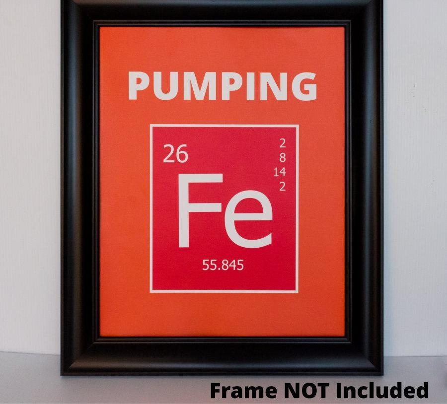Pumping Iron (Fe) Periodic Table Of Elements Wall Art Print [Ap Regarding Elements Wall Art (Image 13 of 20)