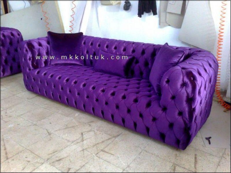 Purple Chesterfield Sofa New Style – Exclusive Design Ideas Throughout Purple Chesterfield Sofas (Image 16 of 20)
