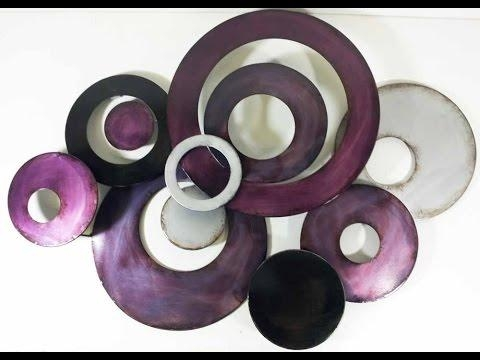 Purple Wall Art – Large Purple Flower Wall Art – Youtube Within Purple Wall Art (Image 14 of 20)