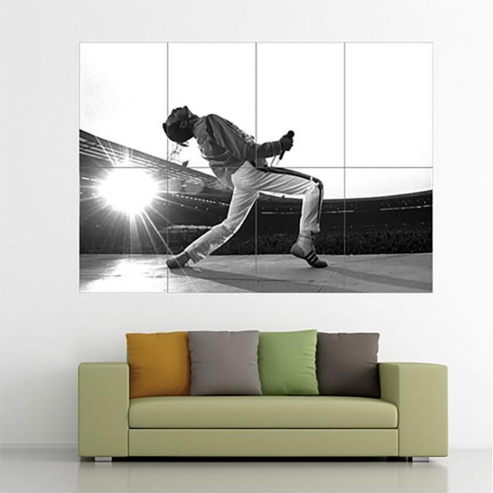 Queen Freddie Mercury Block Giant Wall Art Poster Pertaining To Freddie Mercury Wall Art (Image 16 of 20)