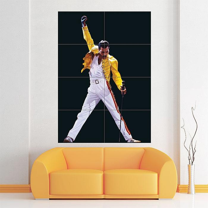 Queen Freddie Mercury Block Giant Wall Art Poster With Regard To Freddie Mercury Wall Art (Photo 2 of 20)