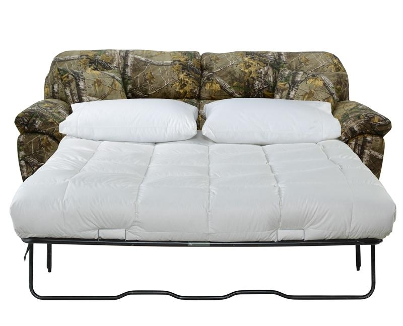Queen Sleeper Sofa In Mossy Oak Or Realtree Camouflage Fabric Pertaining To Camouflage Sofas (Photo 20 of 20)