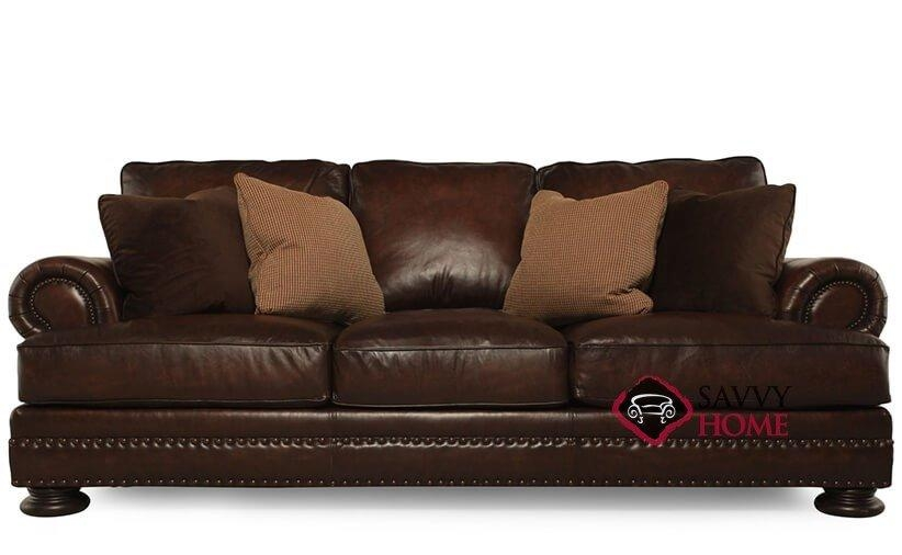 Quick Ship Fosterbernhardt Leather Sofa Inbernhardt With Pertaining To Foster Leather Sofas (View 11 of 20)